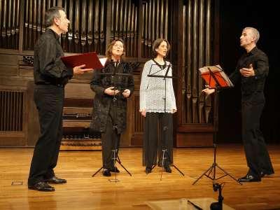 Musica Mundi, Amelia Díez, Iliana Casanueva, Miguel Ángel Bolado y Abilio García-Barón. Concierto A cuatro voces