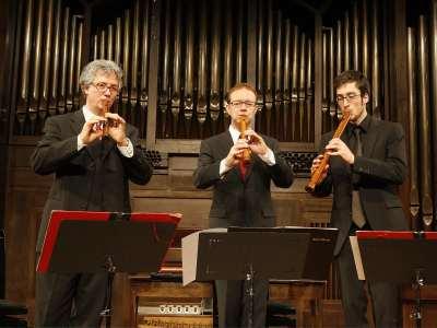 Paul van Loey, Tom Beets, Bart Spanhove, Joris van Goethem y Flanders Recorder Quartet. Concierto Cuartetos exóticos