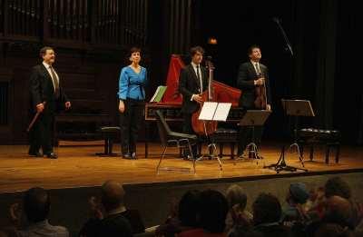 Zarabanda, Álvaro Marías, Joan Espina, Alejandro Marías y Rosa Rodríguez. Concierto Telemann, el barroco del norte