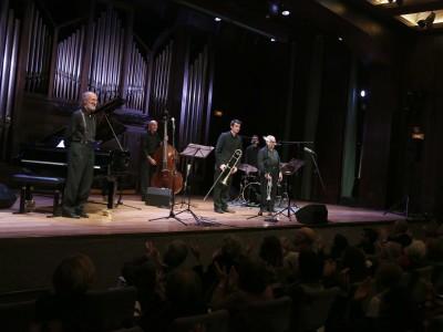 Fernando Sobrino, Antonio Domínguez, Santiago Cañada, Pepe Núñez y Raúl Rodríguez. Concierto Armstrong y el jazz de Nueva Orleans