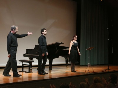 Fernando Palacios, Borja Mariño y Mercedes Arcuri. Concierto Poesía en música - Conciertos en familia