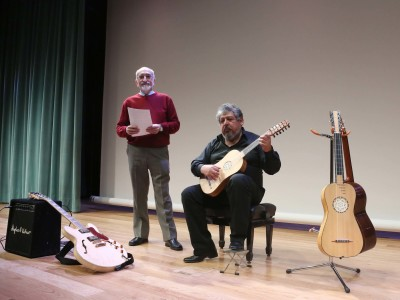 Pepe Rey y Gerardo Arriaga. Concierto Cuadros que suenan: de la vihuela a la guitarra eléctrica - Conciertos en familia