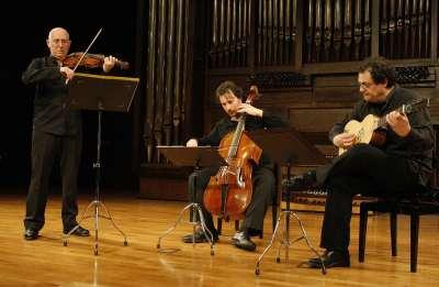 Emilio Moreno, Josetxu Obregón y Jesús Sánchez. Concierto Músicas para el Rey