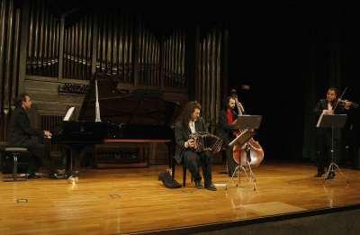 Luis Caruana Tango Quartet, Luis Caruana, Javier Alfonso, Javier González Torrecilla y Mauricio Vuoto. Concierto Tango porteño - Itinerarios del tango