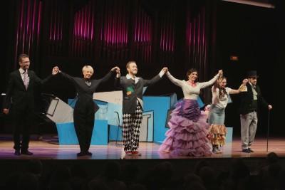 María Rodríguez, Julio Morales, Paula Iwasaki, Raúl Novillo y Celsa Tamayo. Concierto La zarzuela en un acto: música representada - Conciertos en familia)