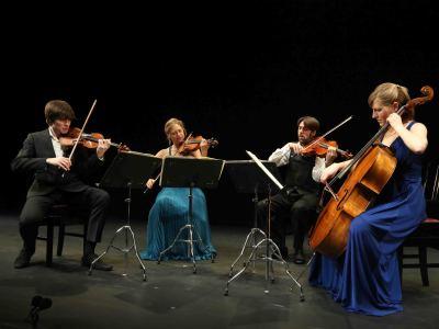 Cuarteto Sacconi, Ignacio Soler y Mario Prisuelos. Concierto Monográfico Glenn Gould - El intérprete como compositor