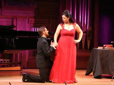 Carmen Solís, Juan Manuel Cifuentes y Aurelio Viribay. Concierto Tango popular - tango erudito - Popular y culta: la huella del folclore