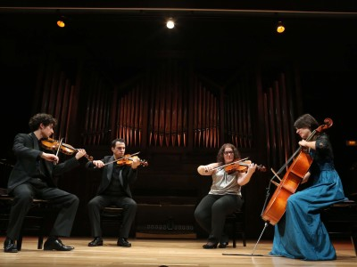 Cuarteto Vínculos, Mario Braña, Eduardo Rey Illán, Claudia Cantero García y Elsa Pidre Carballa. Concierto Recital de Música de Cámara