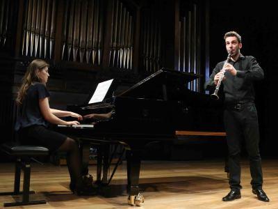 Daría Piltiay y Iñaki Vermeersch. Concierto Recital de clarinete y piano