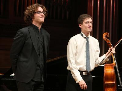 Fernando Arias y Luis del Valle. Concierto Recital de violonchelo y piano