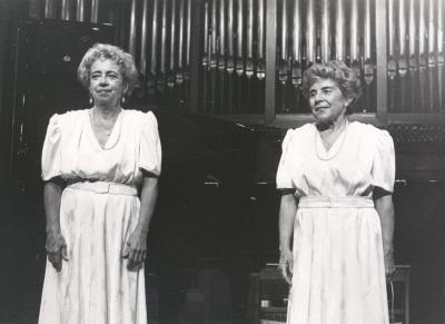 Josefa Palaviccini y Agustina Palaviccini. Recital de dúo de pianos