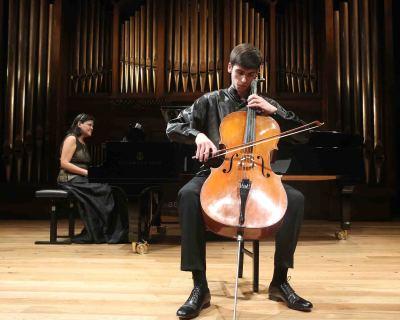 Ofelia Montalván y Víctor García. Concierto Recital de violonchelo y piano