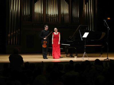 Dúo Gaudí, Bernat Prat Sabater y Paulina Dumanaite. Concierto Recital de violín y piano