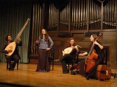 La Cecchina, Ana Arnaz, Liz Rumsey, María Ferre y Vincent Flückiger. Concierto Florencia 1600. La nueva música - El sonido de las ciudades