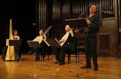 Giuseppe De Vittorio, Ensemble Laboratorio 600, Ilaria Fantin, Katerina Comte El Ghannudi y Franco Pavan. Concierto Lamentos - Músicas para el buen morir