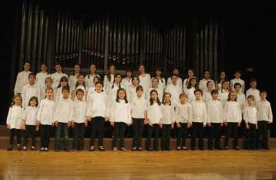 Pequeños cantores, Ana González, Laura Sánchez y Cuarteto de Cuerdas de la JORCAM. Concierto Los niños del coro - La infancia en la música