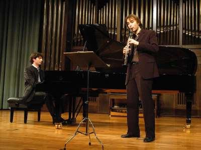 Tommaso Lonquich y Martín Martín Acevedo. Concierto Recital de clarinete y piano