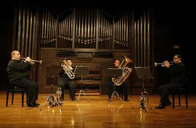 4BRASS, Juan Luis Palomino, Jesús M. Alonso, Antonio Vílchez y Fernando Camacho. Concierto Recital de música de cámara