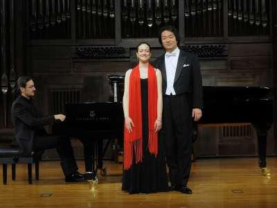 María Isabel Segarra, Taro Kato y Ángel Cabrera. Concierto Recital de canto y piano