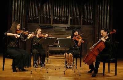 Cuarteto Arte, Rositsa Chopeva, Desislava Karamfilova, Petya Kavalova y Marina Hinova. Concierto Recital de música de cámara