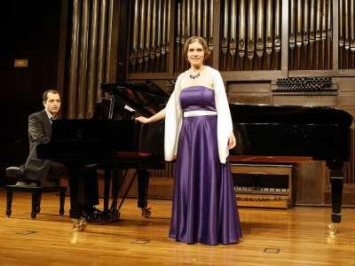 Daniela Lehner y José Luis Gayo. Concierto Compositores de la naturaleza. Con motivo de la exposición Caspar David Friedrich: arte de dibujar