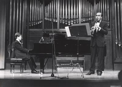 Aníbal Bañados y Enrique Pérez Piquer. Concierto El viento en la música francesa