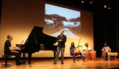 Conjunto de percusión africana, Alberto Rosado y Polo Vallejo. Concierto Polirritmias. Ligeti africano - Popular y culta: la huella del folclore