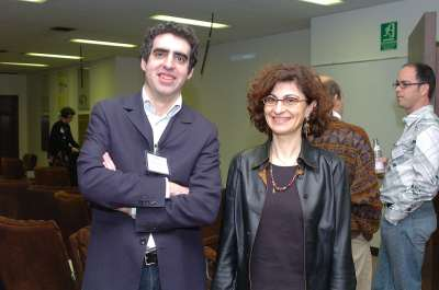 Manel Esteller y Geneviève Almouzni. Conferencia Epigenetics and Chromatin: Transcriptional Regulation and Beyond