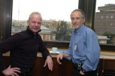 Thomas Jenuwein y Miguel Beato. Conferencia Epigenetics and Chromatin: Transcriptional Regulation and Beyond