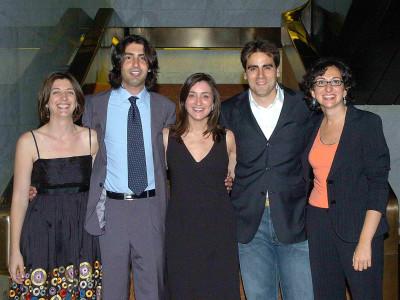 Amparo González, Alfonso Egea de Haro, Sandra León, Ferrán Martínez y Teresa Martín. Entrega diplomas de Maestros y Doctores del CEACS