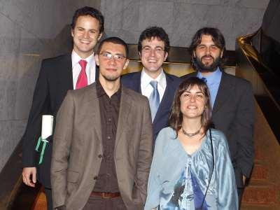 Albert Falcó Gimeno, Pablo A. Fernández Vázquez, Ignacio Jurado Nebreda, Raúl Gómez Martínez y Julia Cordero Coma. Entrega diplomas de Maestros y Doctores del CEACS