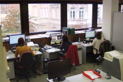 Salas de trabajo de la Biblioteca