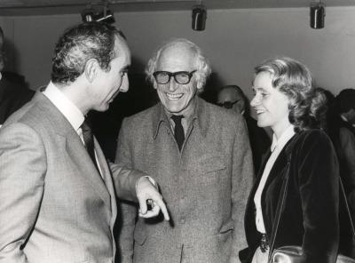 José Luis Yuste Grijalba, Harry Holtzman y Soledad Becerril. Exposición Piet Mondrian Óleos, acuarelas y dibujos
