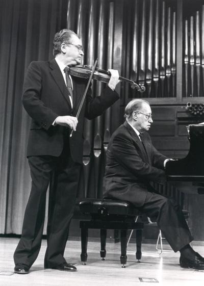 Agustín León Ara y José Tordesillas. Concierto Joaquín Rodrigo y su época