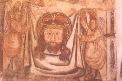 Restauración de pinturas de la Iglesia Santa María de Cuiña (La Coruña)