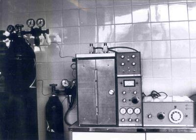 Cromatógrafo de gases. Instituto Provincial de Bioquímica Clínica, de Barcelona