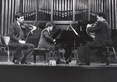 Juan Llinares, Javier Bonet y Aníbal Bañados. Concierto Tres tríos