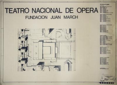 Plano de edificio para el Concurso Internacional del Teatro de la Ópera