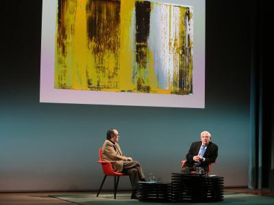 Rafael Canogar en diálogo con Víctor Nieto Alcaide