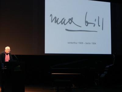 """Jakob Bill. Conferencia inaugural de la Exposición """"Max Bill"""""""