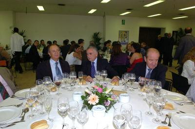 Pablo Vallbona, Alfredo Lafita y Enrique Piñel en la en la comida celebración del 50º aniversario de la Fundación Juan March