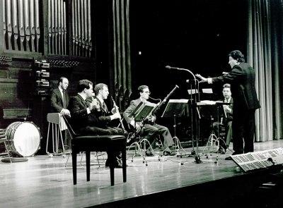 Concierto VII Tribuna de jóvenes compositores, interpretada por el Grupo Koan, con obras de Aracil, Fernández Guerra, Armenteros, Roig-Francolí, Pérez Maseda