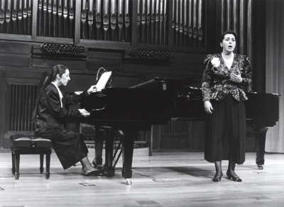 Juana Peñalver y Mª José Chacón. Recital de canto y piano