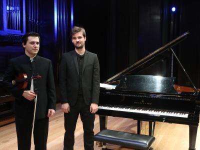 Javier García Aranda y Luis Arias Fernández. Recital de violín y piano