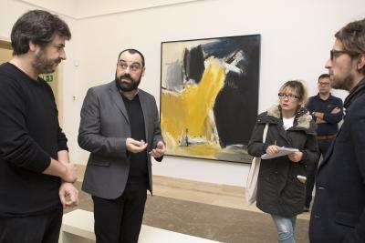 """Xabier Erkizia, Jose Luis Maire y Elena Vallés. Exposición """"Arte Sonoro en España! (1961-2016)"""