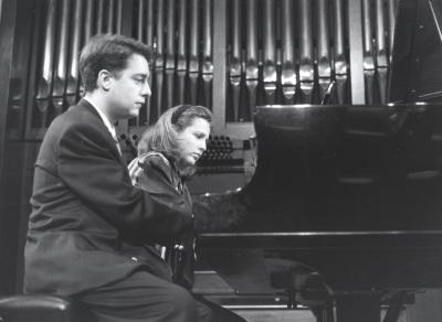 Iñaki Saldaña y Chiky Martín. Concierto La españolada. Música española por compositores extranjeros