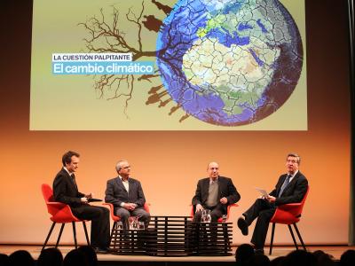 Íñigo Alfonso, Ramón Vallejo, Joan O. Grimalt y Antonio San José. El cambio climático