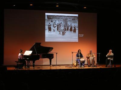 Noelia Fernández Rodiles, Aboubacar Sylla, Justin Tchatchoua y Polo Vallejo. África inspira a Occidente. Polirritmias y polifonías - Conciertos en familia 2016