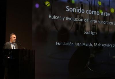 """José Iges. El sonido como arte. Raíces y evolución del arte sonoro en España - El sonido como arte. Con motivo de la exposición """"Escuchar con los ojos. Arte sonoro en España, 1961-2016"""""""
