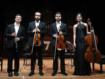 Jesús Montalvo Horcajada, David Navarro Ruiz, Raquel Rivera Novillo y Iván Sánchez Águila. Recital de música de cámara